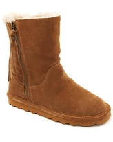 BEARPAW® Lindsay Suede Quilted Boot with NeverWet™ - Gray/Grey
