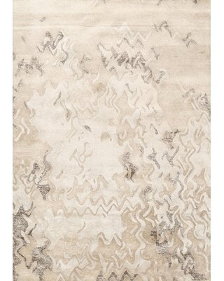 Abstract Gray/Beige Area Rug