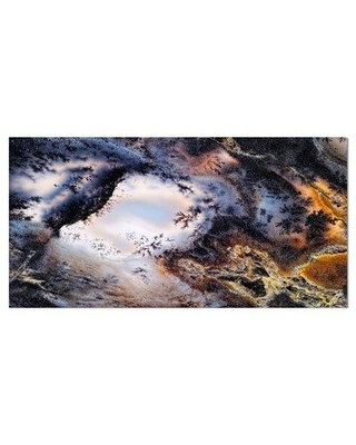 """East Urban Home Stone 'Moss Agate' Graphic Art Print on Wrapped Canvas ETUC0027 Size: 16"""" H x 32"""" W x 1"""" D"""