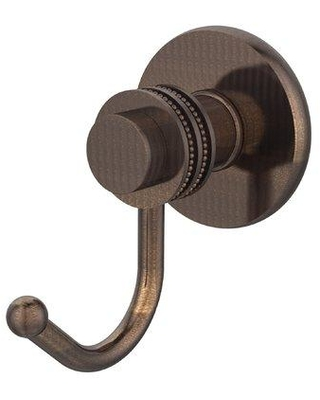 Allied Brass Mercury Wall Mounted Utility Hook with Dotted Detail 920D Finish: Venetian Bronze