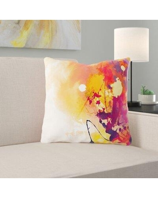 Ebern Designs Valliere Paint Throw Pillow X112304127 Cover Material: Microsuede Location: Indoor