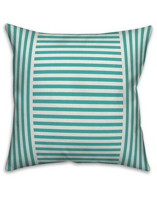"Breakwater Bay Manuel Farmhouse Stripe Indoor/Outdoor Throw Pillow X112820184 Color: Cream/Red Size: 20"" x 20"" Fill Material: Polyester/Polyfill"
