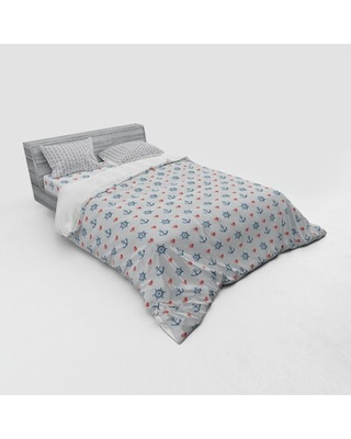 Anchor Duvet Cover Set East Urban Home Size: Queen Duvet Cover + 3 Additional Pieces