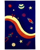 St. Croix Playful Space Explorer Navy Area Rug QSC1179 Rug Size: Rectangle 4' x 6'