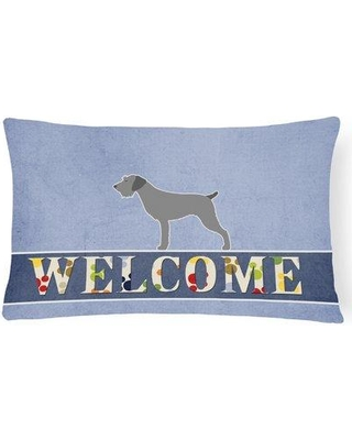 Red Barrel Studio Holtby German Wirehaired Pointer Welcome Lumbar Pillow RBRS4743