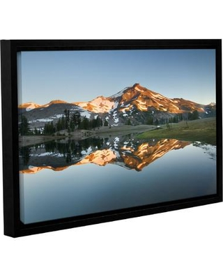 """World Menagerie 'South Sister Reflection II' Framed Photographic Print WLDM8074 Size: 12"""" H x 18"""" W x 2"""" D"""