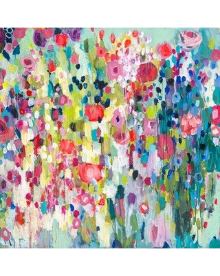 """Bungalow Rose 'Worth The Wait' Acrylic Painting Print BNRS7318 Size: 10"""" H x 10"""" W Format: Wrapped Canvas"""