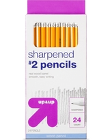 Sharpened #2 Wood Pencils 24ct - Up&Up, Yellow