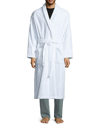 Stafford French Terry Robe - Big, One Size , White