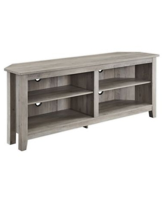 Forest Gate™ Thomas 58-Inch Corner TV Stand in Grey Wash