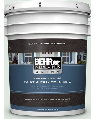 BEHR Premium Plus Ultra 5 gal. #460E-1 Meadow Light Satin Enamel Exterior Paint and Primer in One