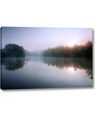 "Ebern Designs 'Fog on the Mattaponi VIII' by Alan Hausenflock Giclee Art Print on Wrapped Canvas BF099002 Size: 21"" H x 32"" W x 1.5"" D"