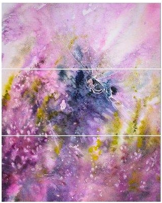 East Urban Home 'Small Spider and Heathers' Oil Painting Print Multi-Piece Image on Wrapped Canvas EBHU3980