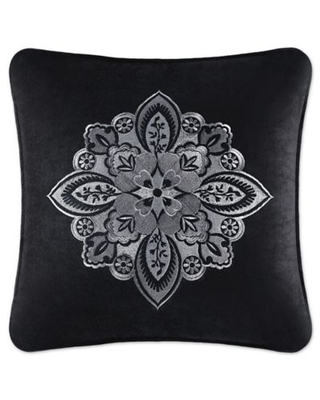 J. Queen New York Guiliana 18-Inch Square Throw Pillow in Black