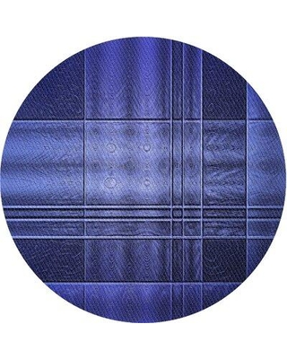 East Urban Home Wool Blue Area Rug X112986051 Rug Size: Round 3'