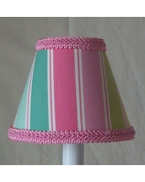 "Silly Bear Special Rainbow Stripe 11"" Fabric Empire Lamp Shade LS-283"