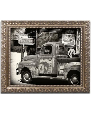 Find Big Savings On Latitude Run Us Truck Framed Photographic Print Canvas Fabric In Brown White Black Size 16 H X 20 W X 0 5 D Wayfair Ltrn8360 30966900