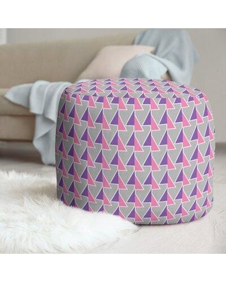East Urban Home Shifted Arrows Pattern Pouf X112817193 Upholstery Color: Pink/Purple
