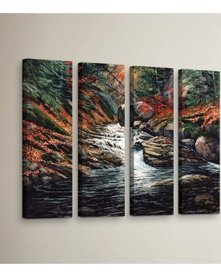"""Loon Peak Autumn Brook 4 Piece Painting Print on Wrapped Canvas Set LOON5432 Size: 24"""" H x 32"""" W x 2"""" D"""
