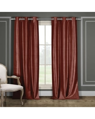 """Duck River Faux Silk Blackout Window Curtain Panel Pair (Set of 2) (Wine - 96 Inches - 38x96"""")"""