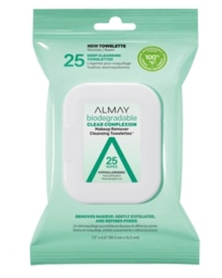 Almay Biodegradable Clear Complexion Makeup Remover Cleansing Towelettes, 25 ct | CVS