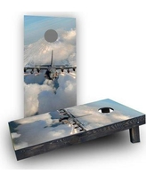 Custom Cornhole Boards Jet Cornhole Boards CCB347-C Bag Fill: Light Weight Boards with All Weather Bags