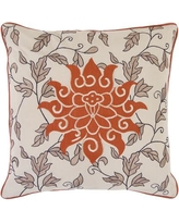 Alcott Hill McCabe Sun and Leaves Cotton Throw Pillow ACOT7468 Filler: Polyester