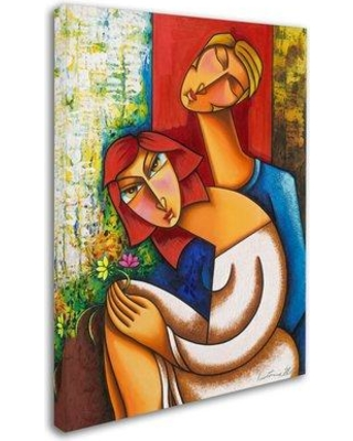 """Trademark Fine Art 'Flowers for You' Print on Wrapped Canvas MA0872-C Size: 32"""" H x 24"""" W x 2"""" D"""