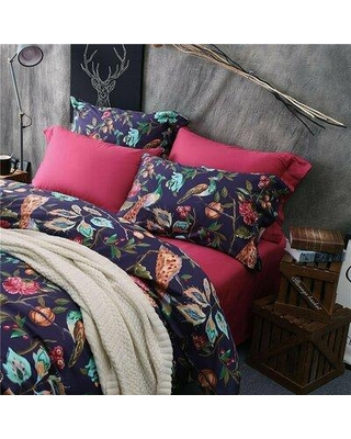 Deals For Bloomsbury Market Phylicia 100 Cotton 3 Piece Duvet Cover Set 100 Cotton In Purple Blue Ivory Size King Wayfair Blmk4325 44290676