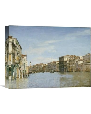 """Global Gallery 'The Grand Canal Venice' by Alberto Pasini Painting Print on Wrapped Canvas GCS-266990- Size: 27.5"""" H x 36"""" W x 1.5"""" D"""