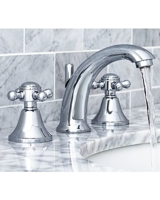 Warby Cross Handle Widespread Bathroom Faucet, Chrome Finish
