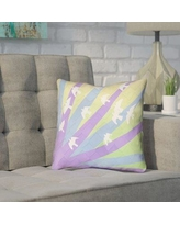 """Brayden Studio Enciso Modern Birds and Sun Pillow Cover BYST7125 Size: 16"""" H x 16"""" W, Color: Purple/Blue/Yellow"""