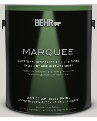 BEHR MARQUEE 1 gal. #PPU25-10 Soft Secret Semi-Gloss Enamel Exterior Paint and Primer in One
