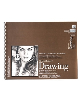 Strathmore 400 Series Drawing Paper Pad 14 In. X 17 In. [Pack Of 2] (2PK-400-7-1),Size: med