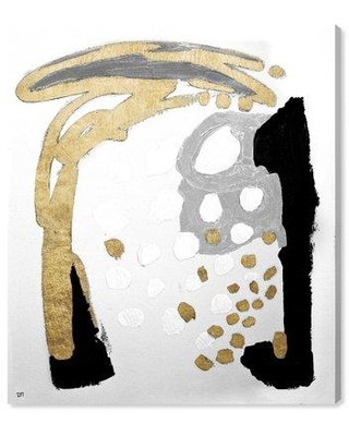 """Mercer41 'Gold and Black Fish' Graphic Art Print on Canvas MCRF4001 Size: 45"""" H x 36"""" W"""