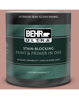 BEHR ULTRA 1 qt. #MQ1-18 Pressed Blossoms Semi-Gloss Enamel Exterior Paint and Primer in One