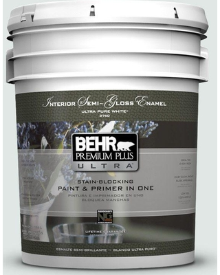 BEHR ULTRA 5 gal. #PPU13-17 Fresh Day Semi-Gloss Enamel Interior Paint and Primer in One