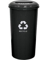 Witt Metal Recycling 20 Gallon Recycling Bin 10/1ST Color: Black