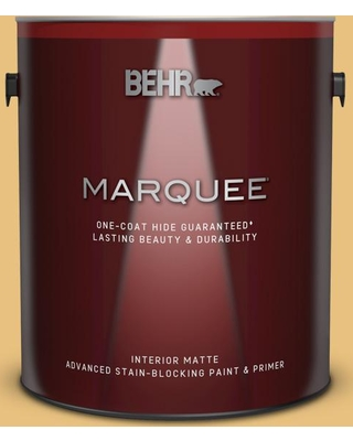 BEHR MARQUEE 1 gal. #340D-4 Honey Bear Matte Interior Paint and Primer in One