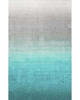 nuLOOM Handmade Soft and Plush Ombre Shag Area Rugs, 5' x 8', Turquoise
