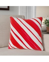 """The Holiday Aisle Candy Stripe Throw Pillow THLY3262 Size: 18"""" x 18"""""""