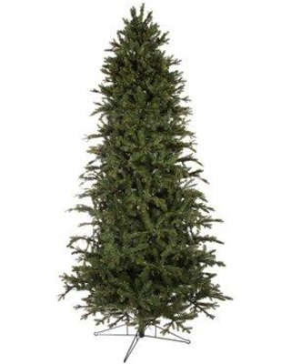 The Holiday Aisle Slim Power Pole Green Fir Artificial Christmas Tree W001803127 Size: 7.5'
