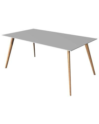 m.a.d. Furniture Airfoil Dining Table G28 Base Finish: White Top Finish: White