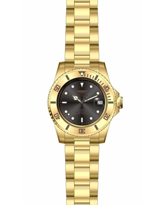 Invicta Men's 28664 'Pro Diver' Gold-Tone Stainless Steel Watch (Stainless Steel - Mineral - 200 Meters - Three Hand - 9 Inch - Black - Analog - 40mm