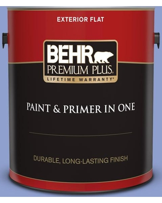 BEHR Premium Plus 1 gal. #600B-4 Pageant Song Flat Exterior Paint and Primer in One