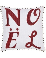 The Holiday Aisle Vintage Stripe Noel Throw Pillow HLDY6981