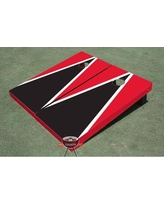 All American Tailgate Matching Triangle Cornhole Board ALMT1072 Color: Black and Red