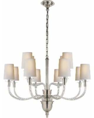 Visual Comfort and Co. Thomas O'Brien Vivian 36 Inch 12 Light Chandelier - TOB 5033PN-NP
