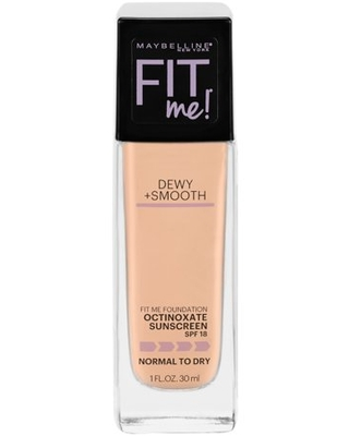 Maybelline Fit Me Dewy + Smooth Liquid Foundation Makeup with SPF 18, Buff Beige, 1 fl oz