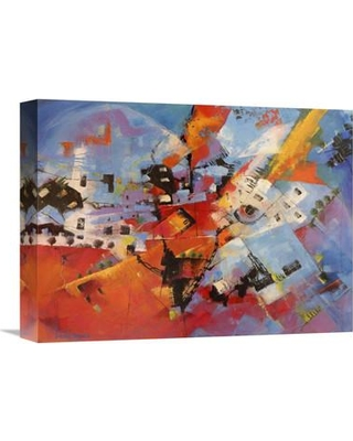 """Global Gallery 'Viaggio a Cuba' by Tebo Marzari Painting Print on Wrapped Canvas GCS-379106 Size: 24"""" H x 32"""" W x 1.5"""" D"""